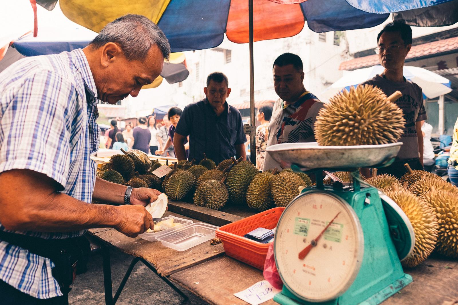 Durian Sales - Penang Editorial Photographer