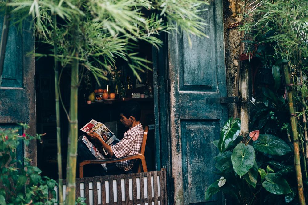 Newspaper Reader, Yangon Downtown, Myanmar - Photographer