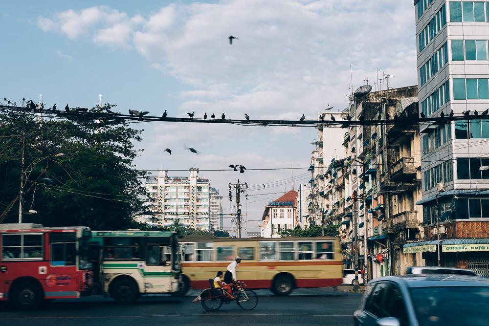 Intersection, Yangon Downtown, Myanmar - Photographer