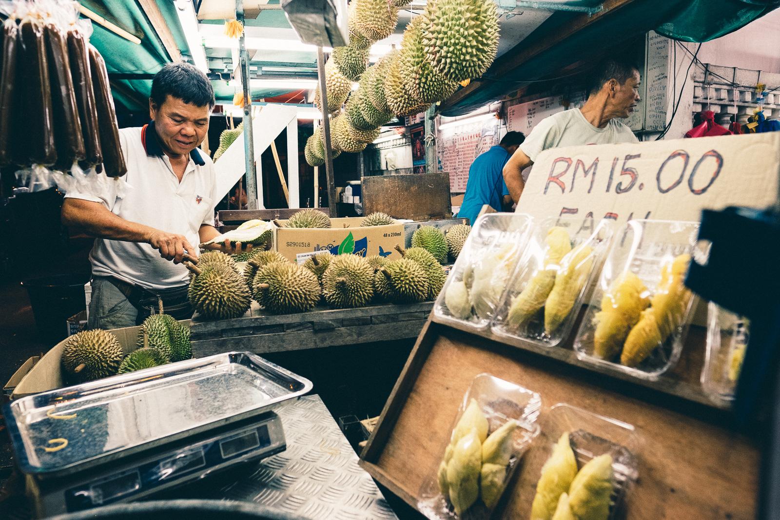 Durian Stall - Penang Editorial Photographer
