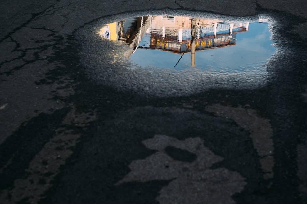 Motel Reflection after the Rain - Tongyeong, South Korea
