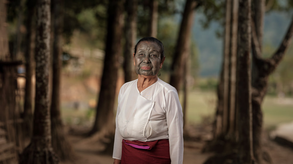 Uppu Chin Facial Tattoo - Myanmar